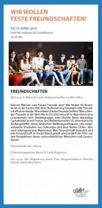 Freundschaften Agendakino 2015